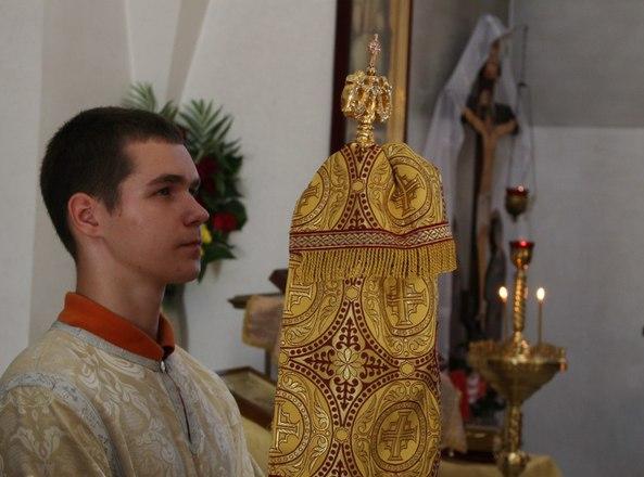 Епископ Вениамин  возглавил вечернее богослужение в кафедральном соборе святого Александра Невского г. Марьина Горка
